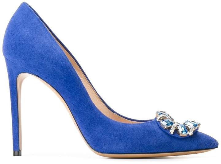 Casadei embellished stiletto pumps