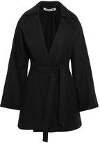 McQ by Alexander McQueen Belted Wool-blend Felt Coat - Black
