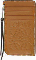 Loewe Tan Coin Card Holder