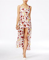 Material Girl Juniors' Printed Overlay Romper, Only at Macy's