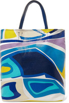 Emilio Pucci Leather-Trimmed Printed Coated Canvas Tote