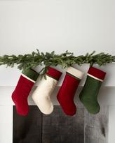 Green Cream Red, Green, & Cream Christmas Stockings