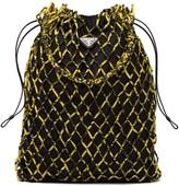 Prada Large Printed-Mesh Tote Bag