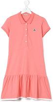 Moncler casual frill-trim dress - kids - Cotton/Spandex/Elastane - 14 yrs