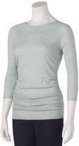 Shirred Ballet Sweater