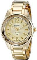 August Steiner Women's AS8122YG Swiss Quartz Diamond Dial Gold-tone Bracelet Watch
