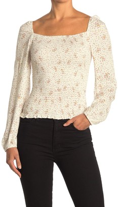 Cupcakes And Cashmere Savannah Smocked Long Sleeve Top