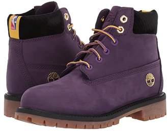 Timberland Kids 6 Premium Waterproof Boot - Los Angeles Lakers (Little Kid) (Medium Purple Nubuck) Kid's Shoes