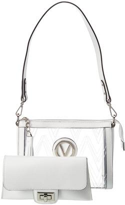 Valentino By Mario Valentino Susanne Crystal Leather Shoulder Bag