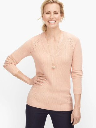 Talbots Ribknit V-Neck Sweater