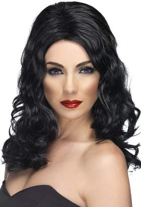 Glamorous Smiffys Women's Long and Wavy Black Wig One Size Wig 5020570421468