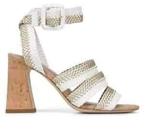 Donald J Pliner Rinata Strappy Woven Block Sandals