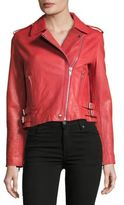 Bagatelle Solid Leather Jacket