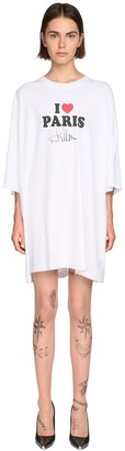Vetements Oversize Cotton Jersey T-Shirt