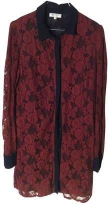Roseanna Burgundy Cotton Dresses