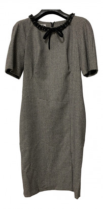 Moschino Grey Wool Dresses