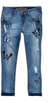 Vigoss The Austin Butterfly Embroidered Ankle Skinny Jeans (Big Girls)