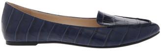 Miss Shop Carla Navy Croc Flat Shoes