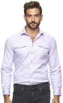 Marc Anthony Men's Slim-Fit Textured Stretch Button-Down Shirt