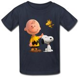StaBe 6-16 years old tee Geek Peanuts Movie 2015 Snoopy Kid's Boys And Girls T Shirt Size S