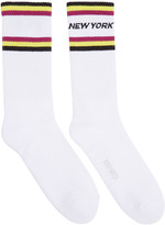 Kenzo White Paradise New York Socks