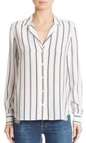 Equipment Adalyn Striped Silk Shirt