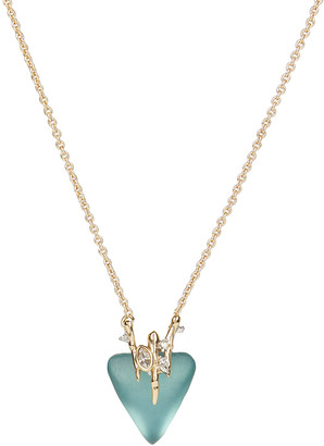 Alexis Bittar Navette Crystal Triangle Pendant Necklace