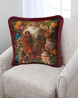 Yana Movchan Santa Silk Pillow