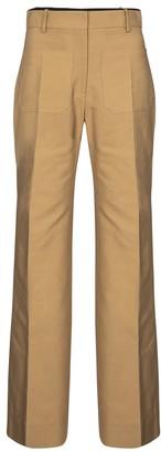 Victoria Beckham Wide-leg cotton-blend canvas pants