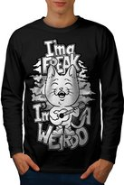 Cat Radiohead Creep Weirdo Lyric Men NEW L Long Sleeve | Wellcoda