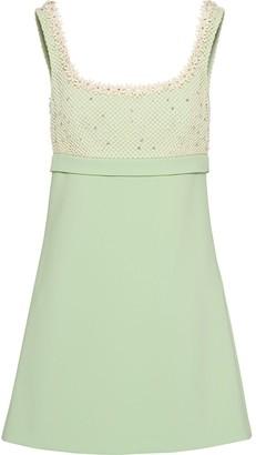 Miu Miu floral appliques A-line mini dress