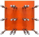 Epicureanist 9-Bottle Acrylic Orange Wine Rack