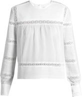 Etoile Isabel Marant Rexton lace-insert cotton blouse