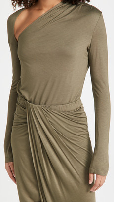 Helmut Lang Asymmetric Long Sleeve Jersey Top