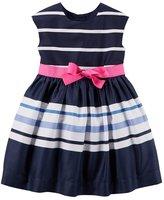 "Carter's Little Girls' Toddler ""Sashed & Striped"" Dress"