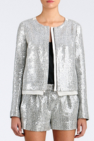 Diane von Furstenberg Tamali Crystal Sequin Jacket In Classic Tweed