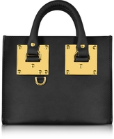 Sophie Hulme Black Leather Albion Box Tote Bag