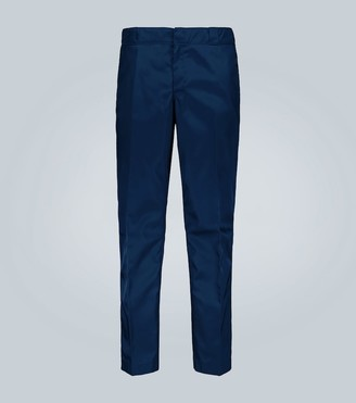 Prada Technical fabric pants with logo