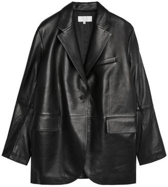 Arket Oversized Leather Blazer
