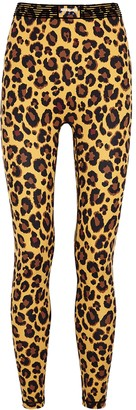 Adam Selman Sport Bonded Active leopard-print stretch-nylon leggings