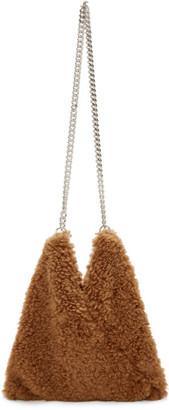 MM6 MAISON MARGIELA Brown Sherpa Japanese Chain Bag