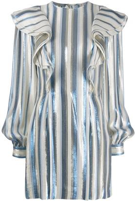 Alberta Ferretti Metallic Striped Tunic