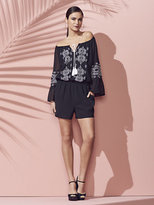 New York & Co. Embroidered Bell-Sleeve Romper