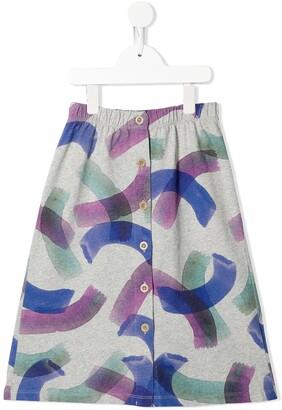 Bobo Choses Abstract-Print Pull-On Skirt