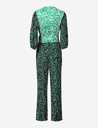 Diane von Furstenberg Blaire graphic-print silk jumpsuit