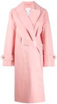 MACKINTOSH MAISON MARGIELA Pink Bonded Cotton Single Breasted Trench Coat