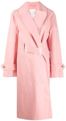 MACKINTOSH MAISON MARGIELA Pink Bonded Cotton Single Breasted Trench Coat
