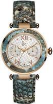 Gc Guess Collection Women's Lady Chic Multicolor Leather Band Steel Case Quartz MOP Dial Watch Y09002L1