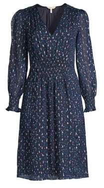 Rebecca Taylor Polka-Dot Silk Midi Dress