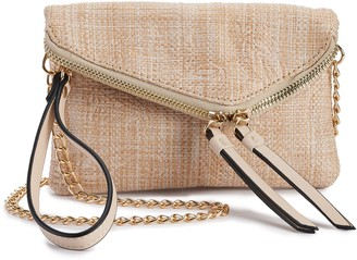 Violet Ray Angled-Flap Convertible Mini Clutch